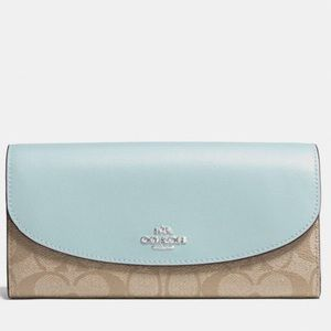 Coach Slim Envelope Wallet in Signature Canvas